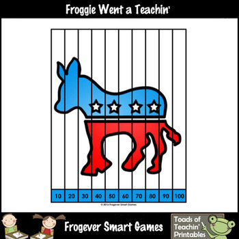"""Skip Counting by Twos, Fives, Tens -- """"Election Day"""" Puzzles"""
