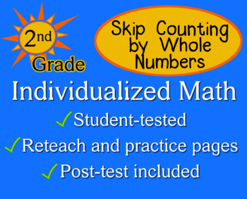 Skip Counting by Whole Numbers, 2nd grade - worksheets - Individualized Math
