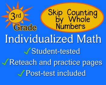 Skip Counting by Whole Numbers, 3rd grade - Individualized