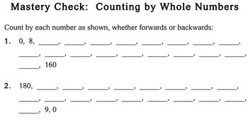 Skip Counting by Whole Numbers, 4th grade - Individualized Math - worksheets