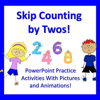 Skip Counting by twos/Missing Number PowerPoint with Animation