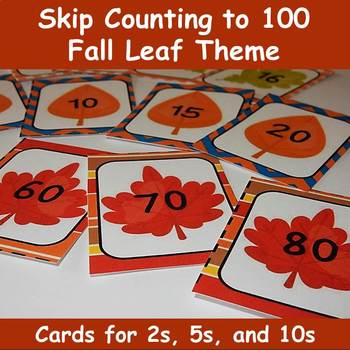 Skip Counting for 2s, 5s and 10s - Fall Leaf Theme