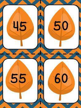 Skip Counting by 2s, 5s and 10s - Fall Leaf Theme