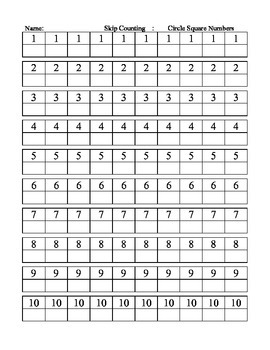 Skip Counting for Multiplication and Division Mastery