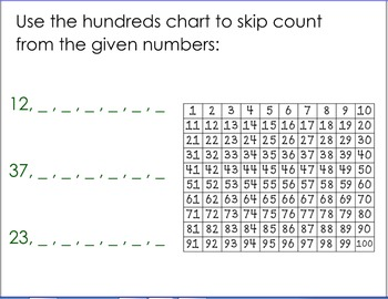 Skip Counting from a Given Number