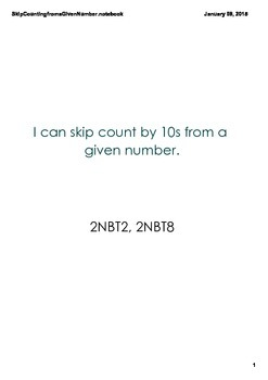 Skip Counting from a Given Number PDF