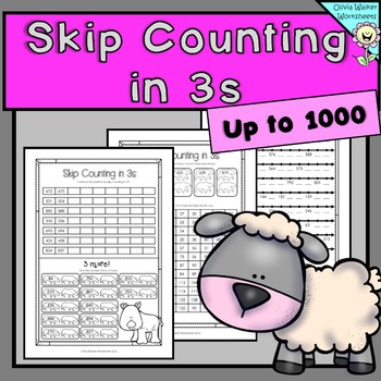 Skip Counting In 3s To 1000 Worksheets Printables By 3s Threes