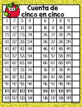Skip Counting Using the 120 Chart in Spanish