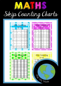 Skip Counting on Hundreds Charts 2s, 3s, 5s, 10s - Maths Posters