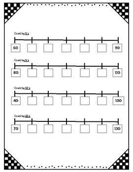 Skip Counting on Number Line