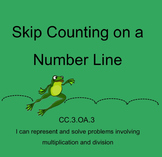 Skip Counting on a Number Line-Interactive Smartboard Activity