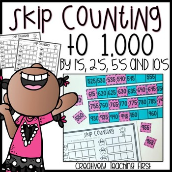 Skip Counting To 1000 Math Centers And Worksheets Tpt