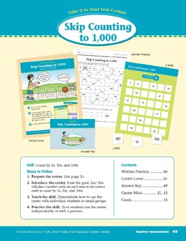 Skip Counting to 1,000 (Take It to Your Seat Centers Common Core Math)