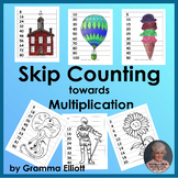 Skip Counting towards Multiplication - Puzzles, Posters, o