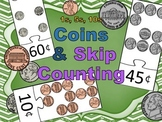 Skip Counting with Pennies, Nickles, Dimes - 1s, 5s, 10s - Cents