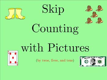 Skip Counting with Pictures- Twos, Fives, and Tens - Smartboard