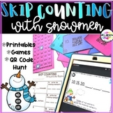 Skip Counting with Snowmen - 2s, 5s, 10s