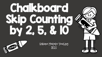 Skip Counting with crayon and chalkboard theme