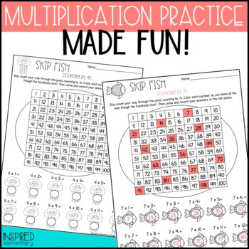 Skip Fish Multiplication: Skip Counting Facts to 12