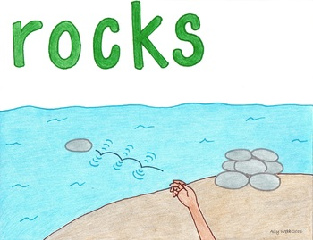 Skip Rocks Cartoon--Printable Montessori Homonym Cards
