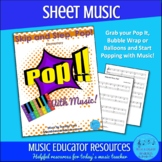 Skip and Step, Pop!   Pop With Music   Sheet Music   Unlim