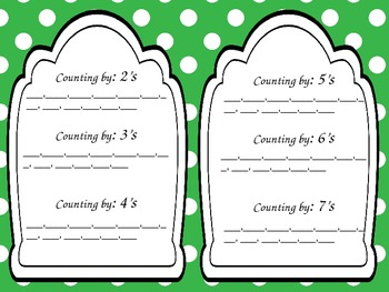 Skip counting 2-12