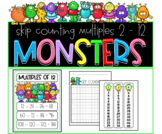 Skip counting 2 - 12 posters with dragon freebie
