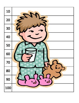 Skip counting Christmas hot chocolate pajama center puzzles ESL COMMON CORE