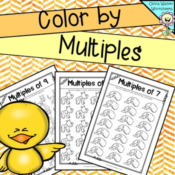Skip counting  : Color by multiples, skip counting in 2s, 3s, 4s, 5s and more