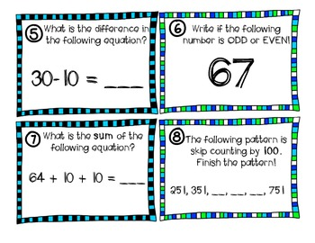 Skip counting and Even/Odd Scoot for 2nd grade! Great review for other grades!