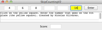 Skip counting and number patterns app for mac and PC