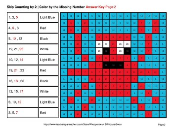 Skip counting by 2, 3, 5 - Ocean Animals Color By Number | Math Mystery Pictures