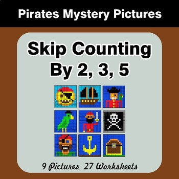 Skip counting by 2, 3, 5 - Pirates Color By Number | Math Mystery Pictures