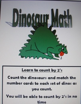 Skip counting by 2's with dinosaurs