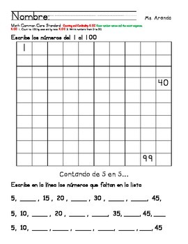 Skip-counting by 5 and 10 (In Spanish)