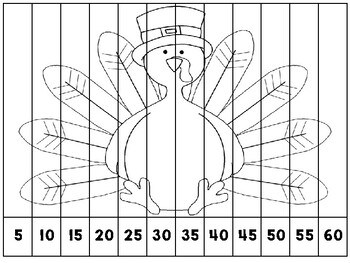 Skip counting by 5's- Thanksgiving
