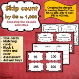 Skip counting by 5's to 1,000 Cross the Decade