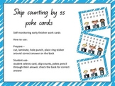 Skip counting by 5s poke cards