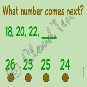 Skip counting by twos