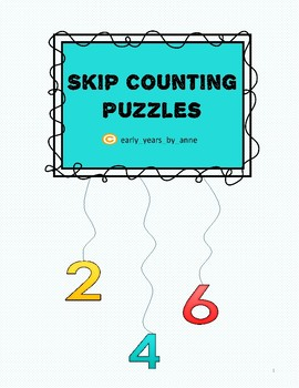 Skip counting puzzles 6-10