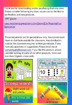 Skip counting/sight words/ number counting(editable PDF)