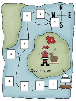 Skip counting to Treasure Island