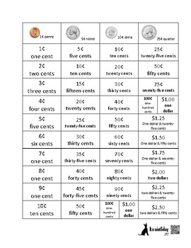 Skip-counting with coins