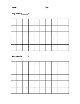 Skip counting worksheet