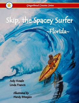 Skip, the Spacey Surfer  ~Florida~  {soft cover book}
