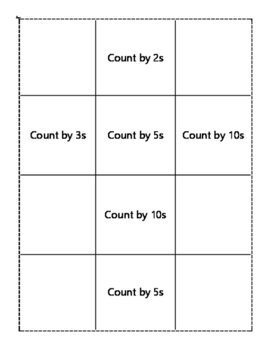 Skip to One Hundred Skip Counting Game