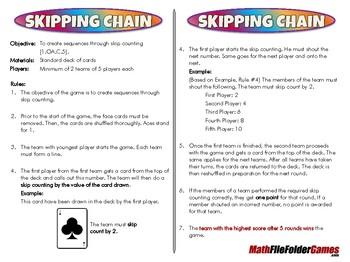 Skipping Chain - 1st Grade Math Game [CCSS 1.OA.C.5]