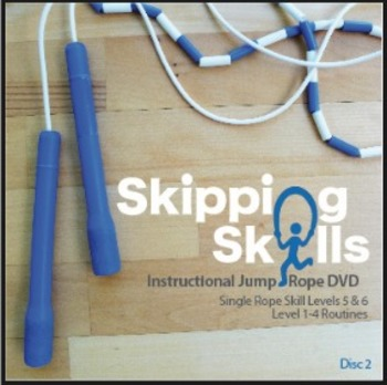 Skipping Skills Instructional Jump Rope DVD Single Rope Disc 2