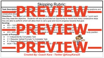 Skipping Skills Rubric (GPE & APE)