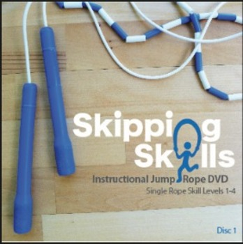 Skipping Skills Instructional Jump Rope DVD Single Rope Disc 1